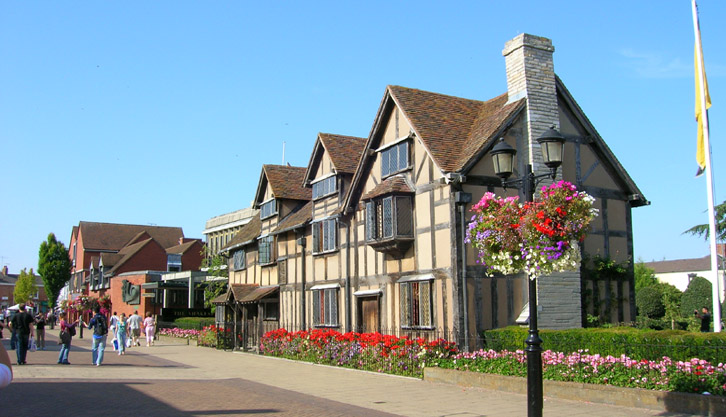 The Birthplace of William Shakespeare in Stratford-upon-Avon Town Centre